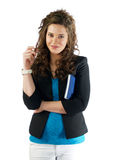 Business woman. Acting to the viwer Stock Images