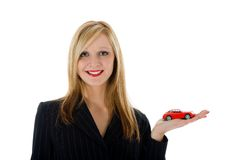 Business woman advertises Royalty Free Stock Images