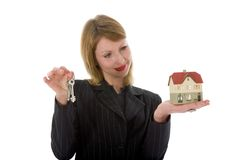Free Business Woman Advertises Real Estate Stock Photos - 4485713