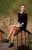 Business woman with an agenda Stock Photos