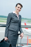 Business woman at airport Royalty Free Stock Photography