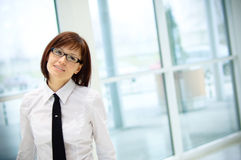 Business woman at airport Stock Images