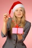 Business-woman & presentes Imagens de Stock