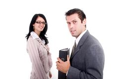 Business Woman And Man Royalty Free Stock Photography