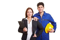 Business Woman And Manual Worker Stock Image