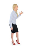 Business woman angry screaming Royalty Free Stock Images