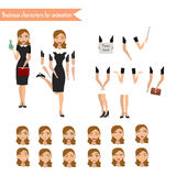 Business Woman for animation Stock Photo