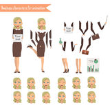 Business Woman for animation Royalty Free Stock Photo