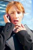 Business woman anticipating Stock Photos