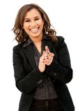 Business woman applauding Royalty Free Stock Photo