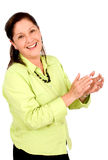 Business woman applauding Stock Photography