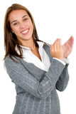 Business woman applauding Stock Images