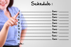 Business woman appointing schedule Stock Images