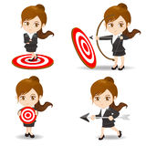 Business woman archery target Stock Images