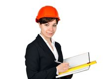 Business woman architect Stock Images