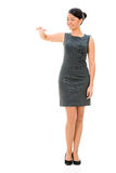 Business woman with arm on something Stock Photography