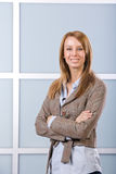 Business woman arms crossed Royalty Free Stock Photos