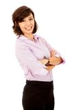 Business woman with arms crossed Royalty Free Stock Image