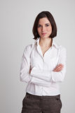 Business woman with arms crossed Stock Image