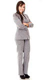 Business woman with arms crossed Stock Images