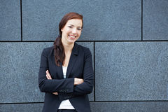 Business woman with arms crossed Stock Photos