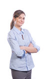 Business Woman arms crossed Royalty Free Stock Images