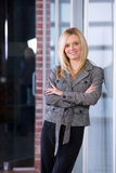 Business woman arms crossed Stock Image