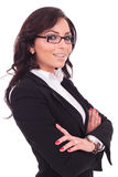 Business woman arms crossed Stock Photography