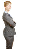 Business woman with arms crossed Stock Photo