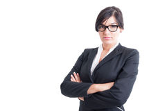 Business woman with arms crossed Royalty Free Stock Photography