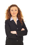 Business woman with arms folded Stock Photography