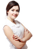 Business woman arms folded Royalty Free Stock Image