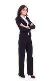 Business woman with arms folded Royalty Free Stock Photos