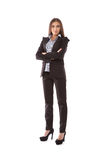 Business woman arms folded Royalty Free Stock Photography