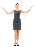 Business woman with arms open Stock Photo