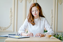 Business woman as working. Royalty Free Stock Images