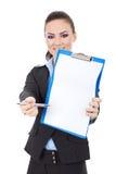 Business Woman Asks For Signature Stock Photos