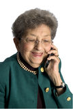 Business woman with attitude. Senior business woman pretty attractive with attitude laughing on phone stock image