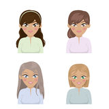 Business woman avatar Royalty Free Stock Photos