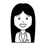 Business woman avatar character Royalty Free Stock Image