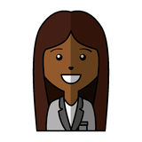 Business woman avatar character Stock Images