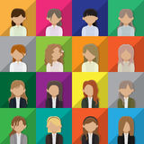 Business woman avatar icons Royalty Free Stock Image