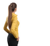 Business woman from the back Royalty Free Stock Images