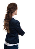 Business woman from the back Stock Photo