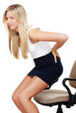 Business woman with back pain Royalty Free Stock Photography