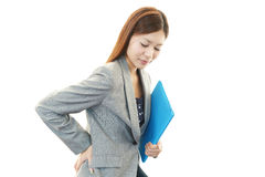 Business woman with back pain Royalty Free Stock Image