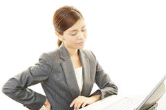 Business woman with back pain Stock Images