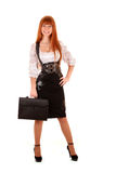 business woman with bag Stock Photos