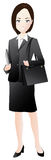 A business woman with a bag Royalty Free Stock Photography