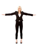 Business woman balancing Stock Photo